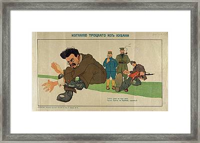 Leon Trotsky Framed Print by British Library