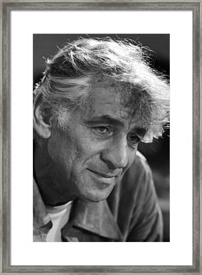 Leonard Bernstein Framed Print by Mountain Dreams