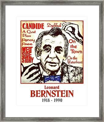 Leonard Bernstein Framed Print by Paul Helm