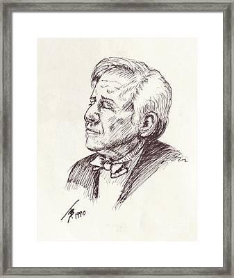 Leonard Berstein Framed Print