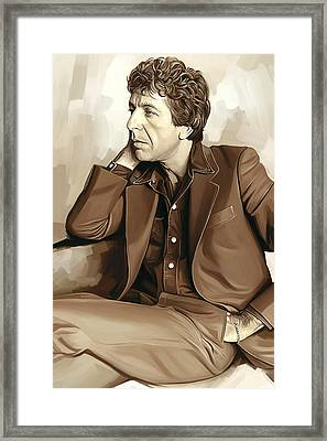 Leonard Cohen Artwork 2 Framed Print