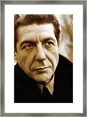 Leonard Cohen Artwork Framed Print