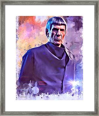Leonard Nimoy Portrait Framed Print by Scott Wallace