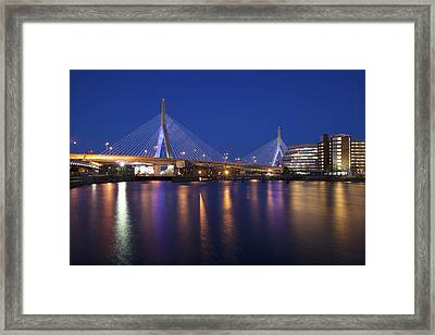 Leonard P Zakim Bridge Framed Print by Eric Gendron