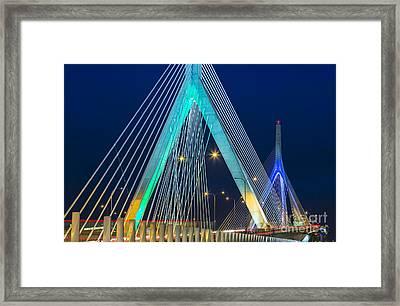 Leonard P. Zakim Bunker Hill Memorial Bridge Framed Print