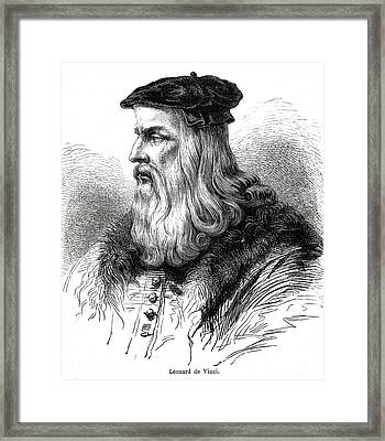 Leonardo Da Vinci Framed Print by Collection Abecasis