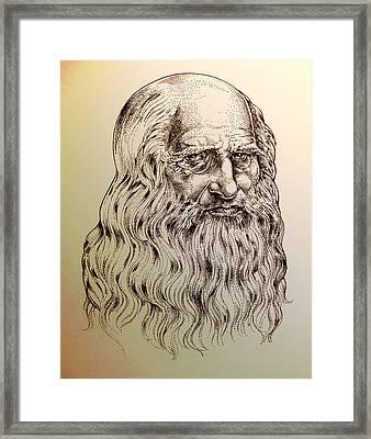 Leonardo Da Vinci Framed Print by Derrick Higgins