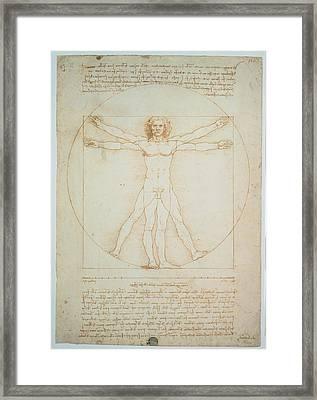 Leonardo Da Vinci, Vitruvian Man - Framed Print