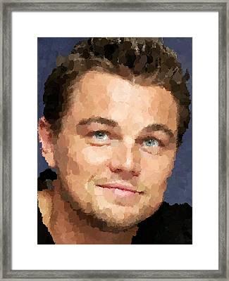 Leonardo Dicaprio Portrait Framed Print