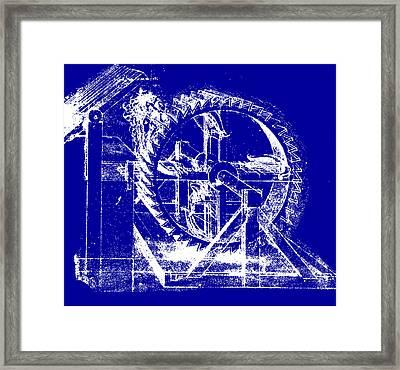 Leonardo Machine Blueprint Framed Print by