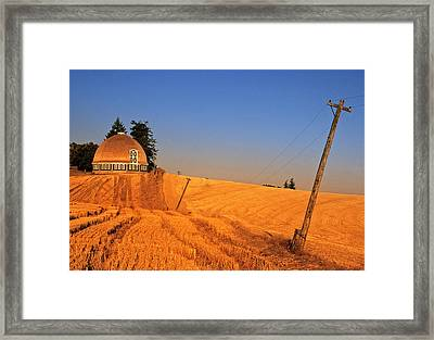 Leonards Round Barn Framed Print by Latah Trail Foundation