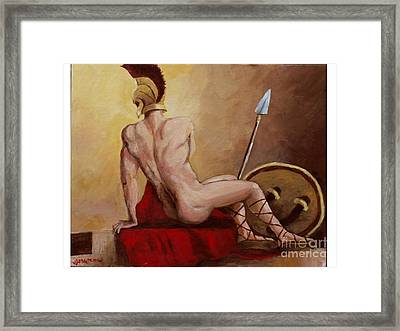 Leonidas Rest Framed Print