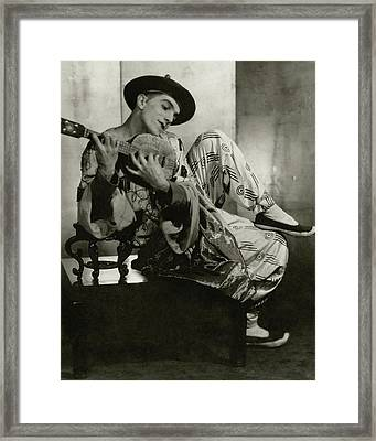 Leonide Massine In Costume For The Ballet Russes Framed Print by Maurice Beck & Helen Macgregor
