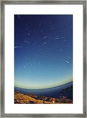 Leonids Meteor Shower Framed Print