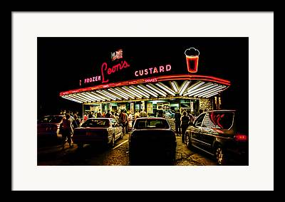 Drive-in Digital Art Framed Prints