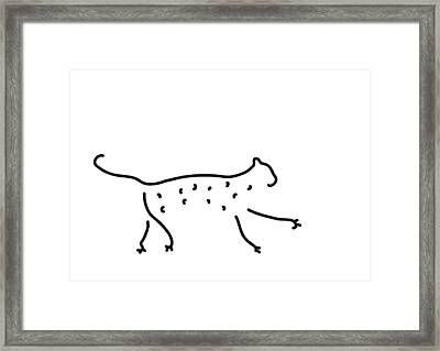 Leopard Cheetah Framed Print