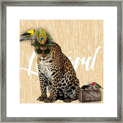 Leopard Collection Framed Print by Marvin Blaine