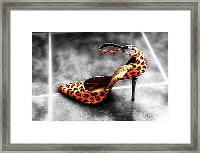 Leopard Fusion Framed Print by John Rizzuto
