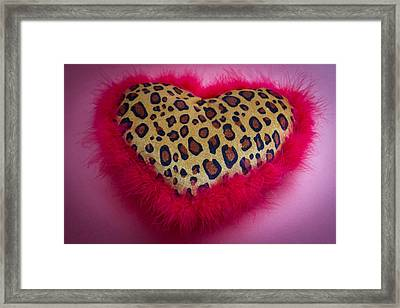 Framed Print featuring the photograph Leopard Heart by Patrice Zinck