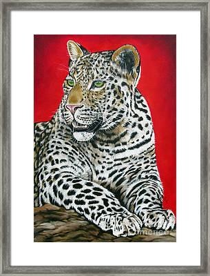 Leopard Framed Print by Ilse Kleyn