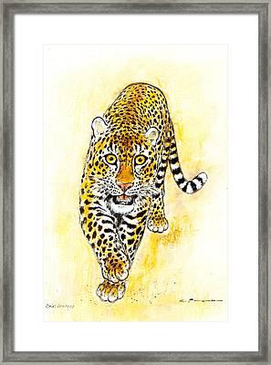 Leopard Framed Print by Kurt Tessmann