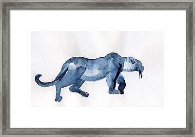 Leopard Framed Print by Lelia Sorokina