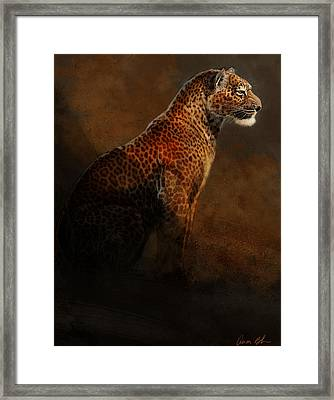 Leopard Portrait Framed Print by Aaron Blaise