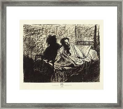 Leopold Flameng French, 1831 - 1911, Charles Meryon Framed Print