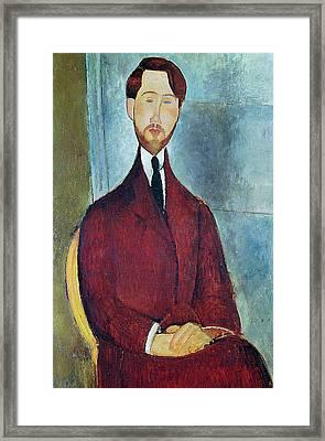 Leopold Zborowski Framed Print by Amedeo Modigliani