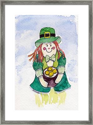 Leprechaun Lassie Framed Print