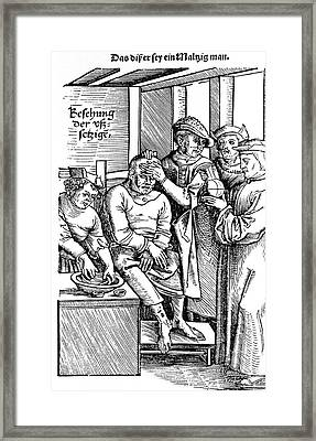 Leprosy Diagnosis Framed Print by National Library Of Medicine