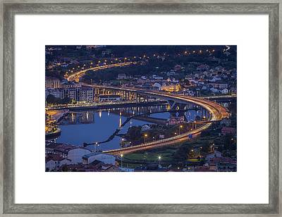 Framed Print featuring the photograph Lerez River Pontevedra Galicia Spain by Pablo Avanzini