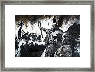 Lerwick Up Helly, A Viking Festival Framed Print