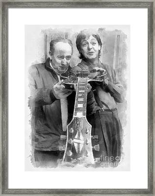 Les And Paul Framed Print by Paulette B Wright