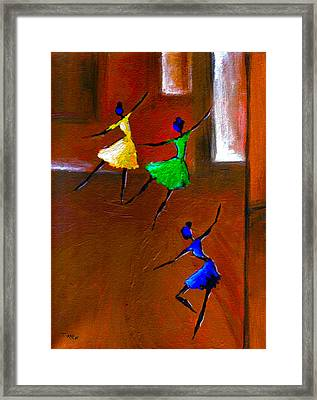 Les Ballerines Framed Print by Mirko Gallery