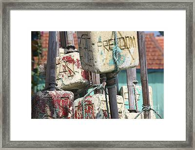 Les Bouees  Framed Print