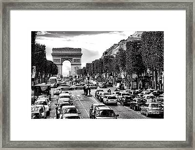 Les Champs Elysees  Framed Print