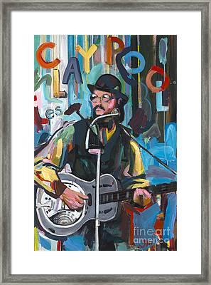 Les Claypool Framed Print by David Oppenheimer
