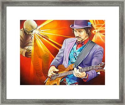 Les Claypool's-sonic Boom Framed Print by Joshua Morton