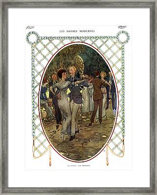 Les Dances Modernes  France Cc Tango Framed Print by The Advertising Archives