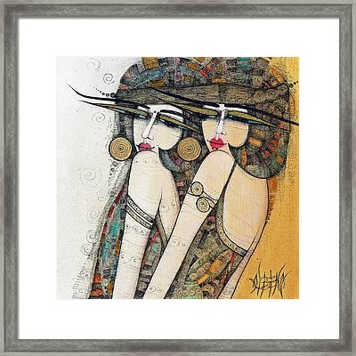 Les Demoiselles Framed Print