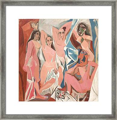 Les Demoiselles D' Avignon Framed Print by Reproduction