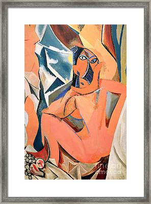 Les Demoiselles D'avignon Picasso Detail Framed Print by RicardMN Photography