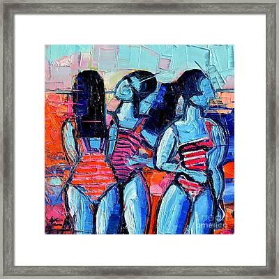 Les Demoiselles De Deauville Framed Print