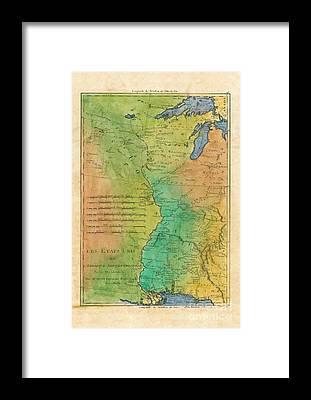 Lisa Middleton Mississippi River Framed Prints