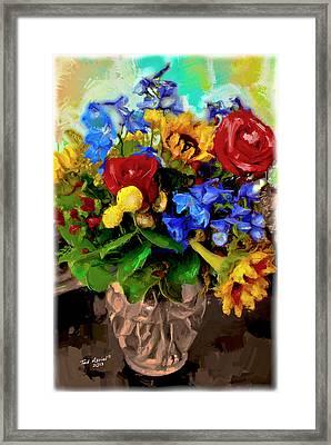 Les Fleurs Framed Print by Ted Azriel