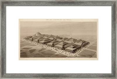 Les Halles Paris 1863 Framed Print by Andrew Fare