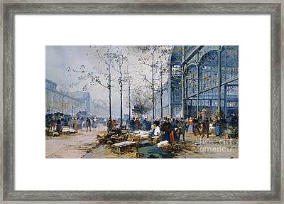Les Halles Paris Framed Print by Jacques Lieven