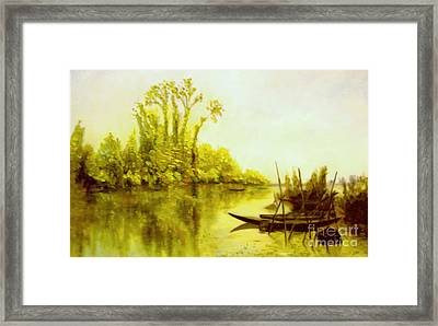 Les Iles Vierges A Bezons Reproduction Framed Print by Mukta Gupta