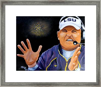 Les Miles Clapping Framed Print by Terry J Marks Sr